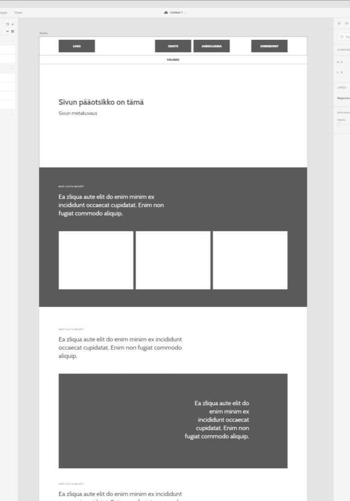 WordPress kotisivut rautalanka