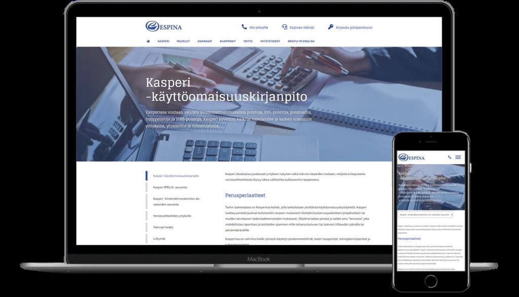 Espina WordPress kotisivut