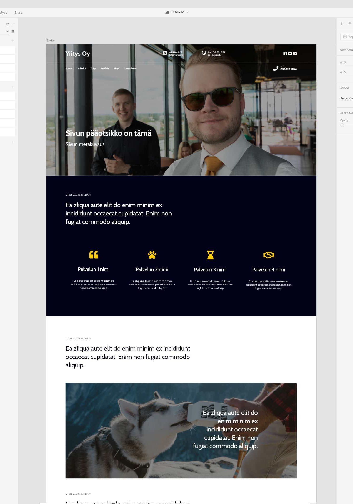 WordPress kotisivut Leiska